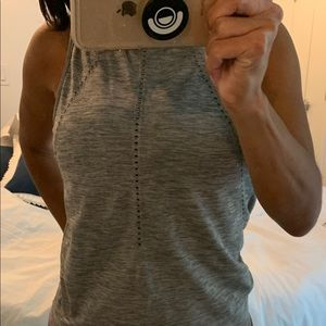 Athleta Gray Back Tie Tank Size S